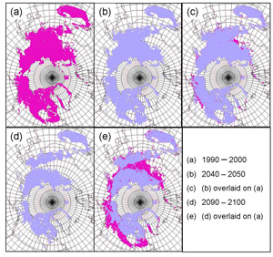 change in permafrost distribution